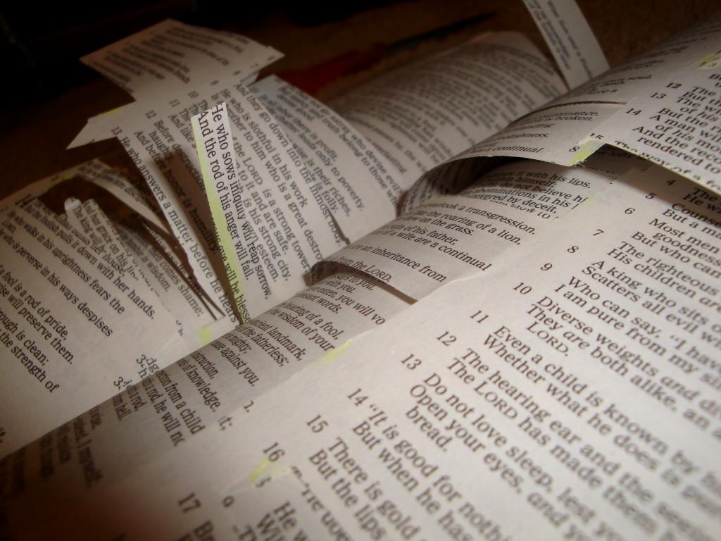 Cut up Bible - liberal Christianity - Wikipedia