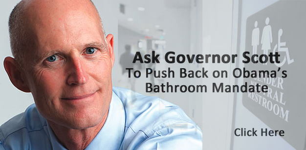 Rick Scott Gray With Obama Text